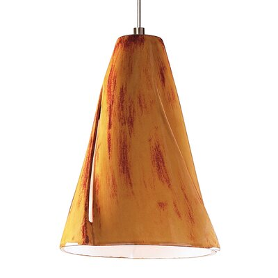 Whirl 1-Light Mini Pendant Finish: Desert Blaze, Canopy and Transformer: With