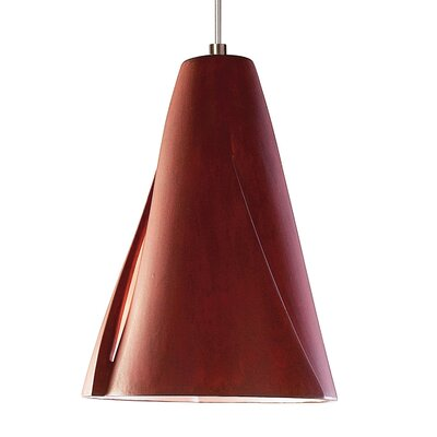 Whirl 1-Light Mini Pendant Finish: Red Rock, Canopy and Transformer: With