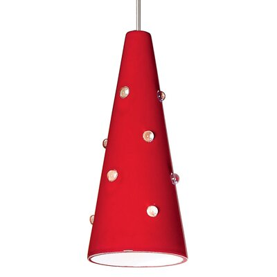 Wizard 1-Light Mini Pendant Finish: Matador Red, Canopy and Transformer: With
