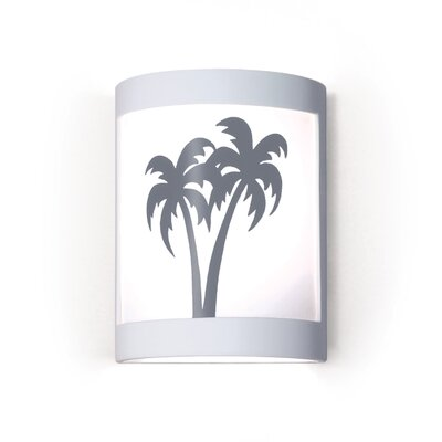 Twin Palms One Light Wall Sconce