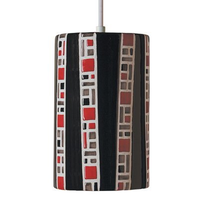 Mosaic  1-Light Mini Pendant Finish: Black, Bulb Type: Incandescent