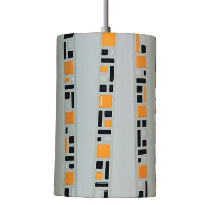 Mosaic  1-Light Mini Pendant Finish: White, Bulb Type: Incandescent