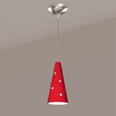 Wizard 1-Light Mini Pendant Finish: Matte Black, Canopy and Transformer: With