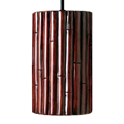 Nature 1-Light Mini Pendant Finish: Cinnamon, Bulb Type: Incandescent