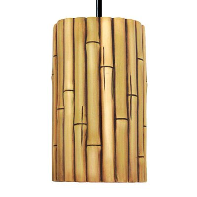 Nature 1-Light Mini Pendant Finish: Natural, Bulb Type: Incandescent