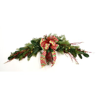 Down Home Evergreen Glittered Twig and Berry Garland