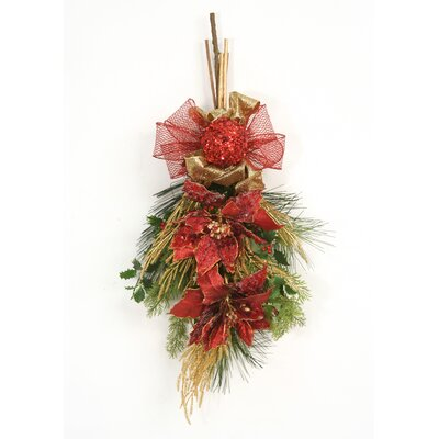 Holiday Sparkle Jeweled Poinsettia Swag image