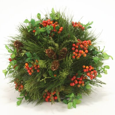 Mixed Pine Ball with Berry Spray's and Pine Cones image