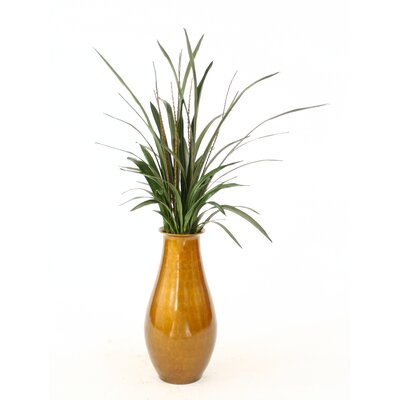 Orchid Blades, Nubby Branches Floor Plant in Decorative Vase 2916B