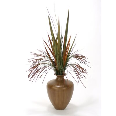 Seeded Grass and Blade Grass in Round Tapered Vase 9831