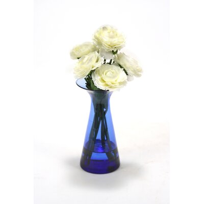 Waterlook Ranunculus Spray Floral Arrangements in Astarte Vase