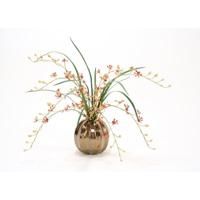 Gold Vanda Orchid Stem in Sphere 9816A