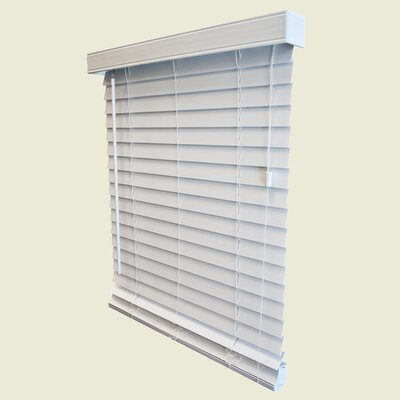 "Wildon Home 2"" Faux Wood Blind in White - 84"" Length - Size: 34.5"" W x 84"" L at Sears.com"