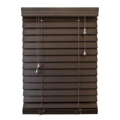 "Wildon Home 2.5"" Faux Premium Wood Blind - 64"" H - Color: Espresso, Size: 21.5"" W x 64"" H at Sears.com"