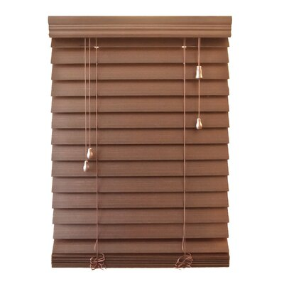 """Wildon Home 2.5"""" Faux Premium Wood Blind - 84"""" H - Color: Maple, Size: 32"""" W x 84"""" H at Sears.com"""