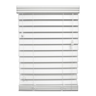 """Wildon Home 2.5"""" Faux Premium Wood Blind - 72"""" H - Size: 52.5"""" W x 72"""" H, Color: White at Sears.com"""