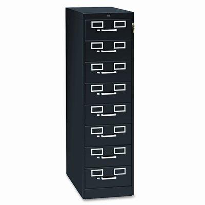 8-Drawer Multimedia Filing Cabinet Color: Black