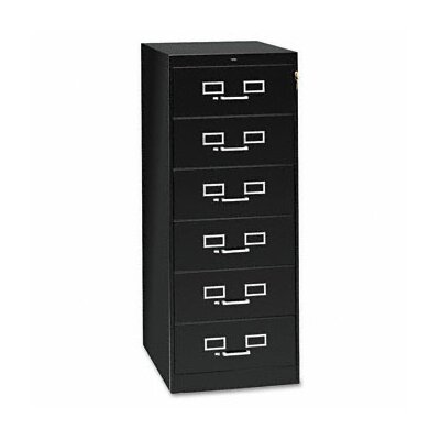 6-Drawer Multimedia Filing Cabinet Color: Black