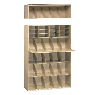 Stackable Filing System Open Filing Unit Width: 48, Color: Sand