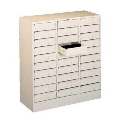 30 Drawer Organizer Filing Cabinet Color: Black
