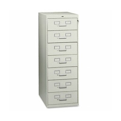 Tennsco Seven-Drawer Multimedia Filling Cabinet