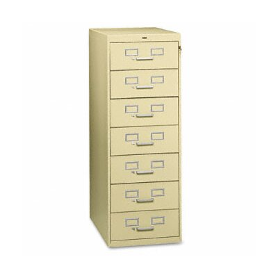 Tennsco Seven-Drawer Multimedia Filling Cabinet