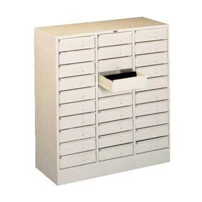 30 Drawer Organizer Filing Cabinet Color: Champagne Putty