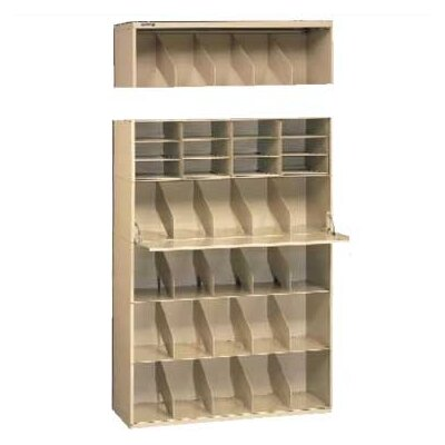 Letter Size Stackable Filing System Open Filing Unit Color: Sand, Size / Levellers: 48 / With Levellers