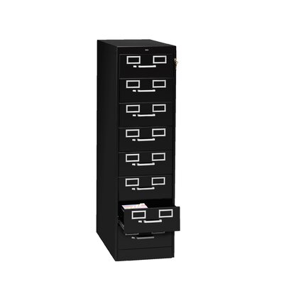 Card and Multimedia File Filing Cabinet Color: Black, Size: 15 x 28 x 52 (8 Drawer)