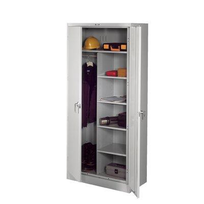 Armoire Color: Light Grey, Doors: Standard