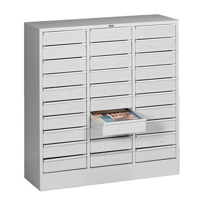 30 Drawer Organizer Filing Cabinet Color: Light Grey