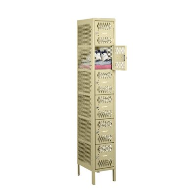 6 Tier 1 Wide Gym Locker Color: Medium Gray VBL6-1218-1-MG
