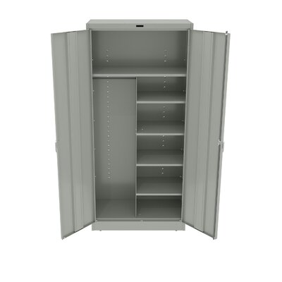 Armoire Color: Light Grey, Doors: Standard