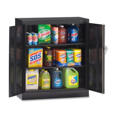Reinforced 2 Door Storage Cabinet Color: Black Product Picture 2577