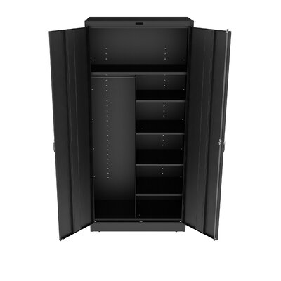Armoire Color: Black, Doors: Standard