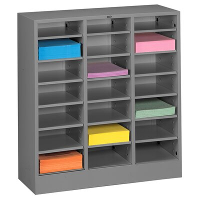 Letter Size Literature Sorter Color: Medium Grey