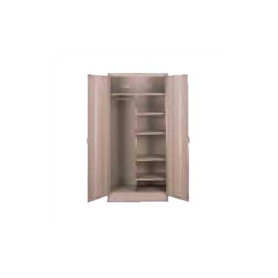 Armoire Color: Champagne Putty, Doors: Standard