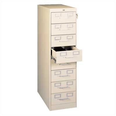 Card and Multimedia File Filing Cabinet Color: Champagne Putty, Size: 15 x 28 x 52 (8 Drawer)