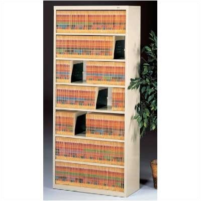 Large Fixed Shelf File Open Filing Unit Color: Champagne Putty