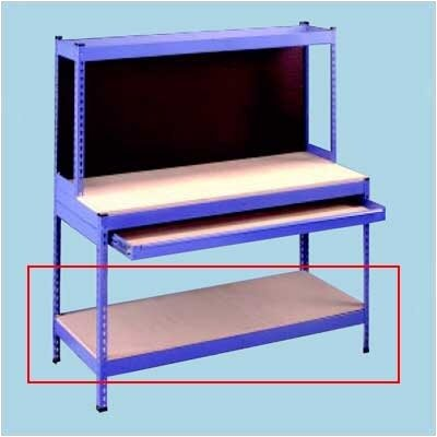 "Tennsco Extra Shelves for Rivet Style Workbench -Color:Accent Blue, Dimensions (WxDxH):(Full Drawer, 24""d unit) 30""x24""x2 3/4"" at Sears.com"