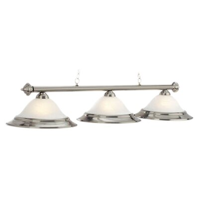 3-Light Billiard Light Finish: Stainless