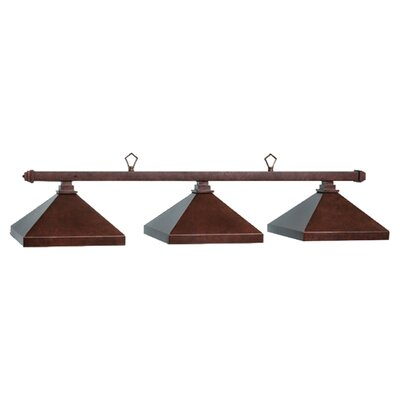 Billiard 3-Light Pool Table Light Finish: Mahogany, Size: 13 H x 45 W x 16 D