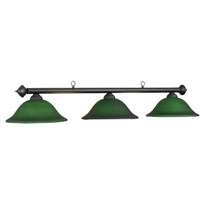 Marseilles 3-Light Billiards Light Shade Color: Green