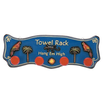 Outdoor Hang'em High Tropical Towel Rack ODR643