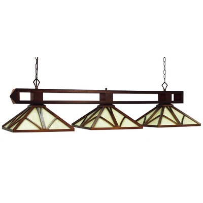 Chateau 3-Light Billiard Light Finish: Chestnut