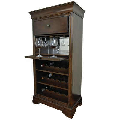 Bar Cabinet With 15 Bottle Wine Bar Color: English Tudor