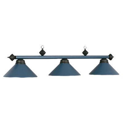 3-Light Billiards Light Finish: Matte Blue