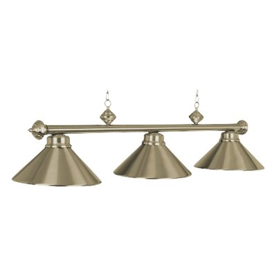 3-Light Billiards Light Finish: Antique Brass
