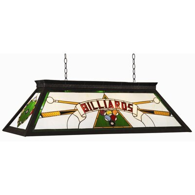 4-Light Billiard Light Finish: Green