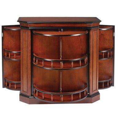 Bar Cabinet with Spindle Finish: Black